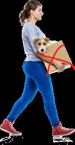 Frau-mit-hund-im-karton-155x300 Hunde im Karton – Hoffentlich kein Skandal