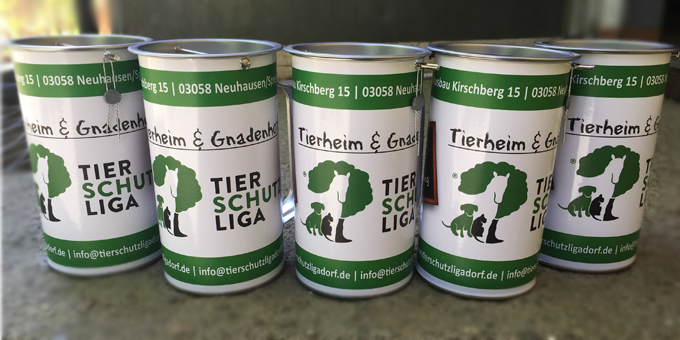 Spendendosen-Tierheim-Gnadenhof-Tierschutzliga-Helfen Fördern & Helfen im Tierschutzligadorf