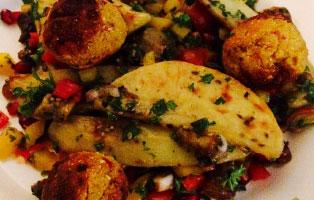 orientalischer-kartoffelsalat-vegan-fallaffel Vegane und vegetarische Rezepte