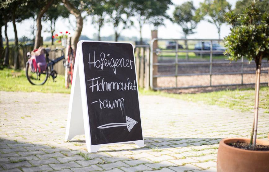 Tierheimfest-Wardenburg-Flohmarkt-schild Veranstaltungen - Tierschutzhof Wardenburg