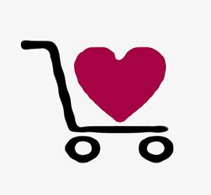 Einkaufswagen Agaporniden - lebenslange Treue