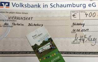 bueckeburg-rinteln-spende- Praxis Extertalbahn spendet Einnahmen ihrer Eröffnungsfeier