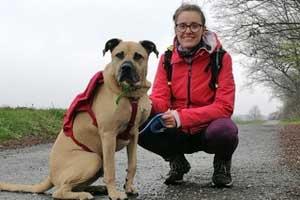 christin-körner Hund Adam läuft – für die Tierschutzliga