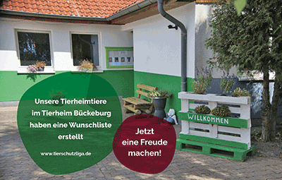 Wunschliste-bückeburg TIERSCHUTZLIGA Tierheim Weihnachtsspende