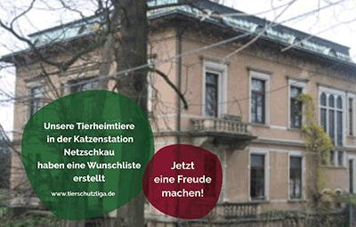 Wunschliste-netzschkau TIERSCHUTZLIGA Tierheim Weihnachtsspende
