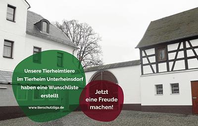 Wunschliste-unterheinsdorf TIERSCHUTZLIGA Tierheim Weihnachtsspende