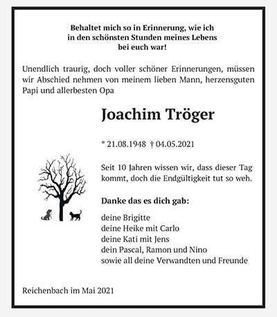 anzeige-troeger-klein Wir trauern um Joachim Tröger